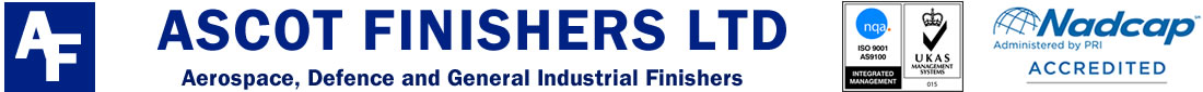 Ascot Finishers Ltd, Aerospace, Defence and General Industrial Finishers Logo